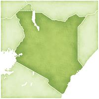 ケニアの地図