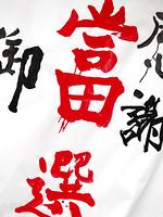 選挙事務所の当選御礼ポスター