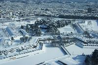 函館奉行所の雪化粧