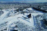 降雪された五稜郭