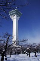 五稜郭タワーに降る雪