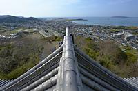 館山城天守からの西向きの眺め