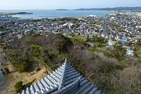 館山城天守からの北西向きの眺め