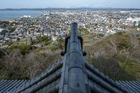 館山城天守からの北向きの眺め
