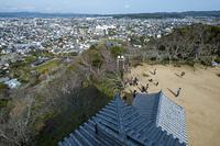 館山城天守からの北東向きの眺め
