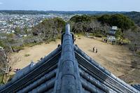 館山城天守からの東向きの眺め