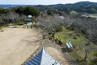 館山城天守からの南東向きの眺め