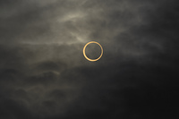 金環日食  07:36:33
