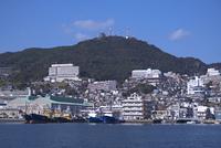 長崎港からの稲佐山