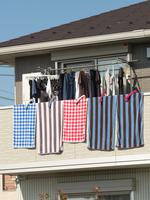 ベランダに干した洗濯物