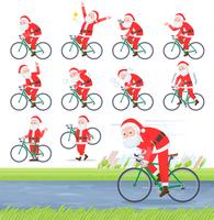 flat type Santa Claus_road bike