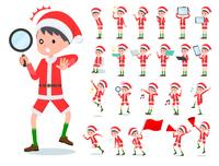 flat type boy Santa Claus_Action