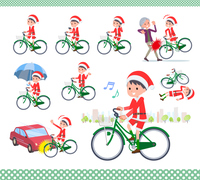 flat type boy Santa Claus_city cycle