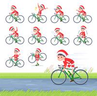 flat type boy Santa Claus_road bike