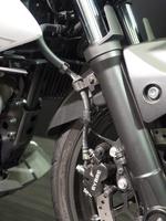 オートバイの前輪