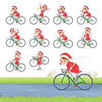 flat type Santa Claus girl_road bike