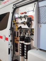 救急車に積載された資機材