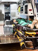 救急車の内部