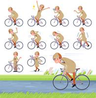 flat type Detective man_road bike