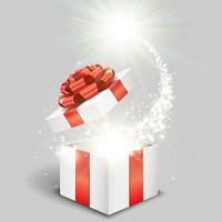 白いギフトボックスと特別な贈り物