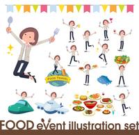 flat Formal no collar jacket women_food festival