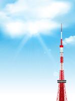 東京タワー 日本 電波塔 背景