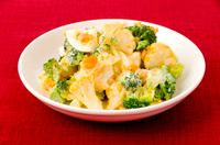 ブロッコリーとカリフラワーの玉子サラダ
