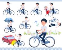 flat type school boy short sleeve summer_city cycle