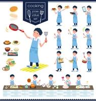 flat type school boy short sleeve summer_cooking