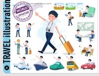 flat type school boy short sleeve summer_travel