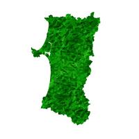 秋田 地図 緑 アイコン