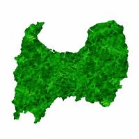 富山 地図 緑 アイコン