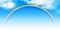 虹 カラフル 自然 背景