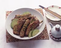 豚スペアリブの七味焼き