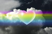 虹とハート