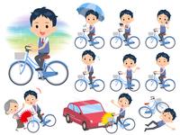 school boy Blue vest short sleeve_city cycle