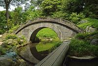 小石川後楽園・中国風物の円月橋
