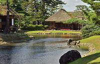 御薬園・心字の池と楽寿亭、御茶屋御殿