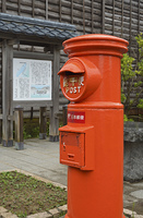 出雲崎町・郵便ポストのある風景
