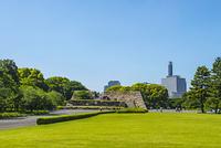 江戸城本丸天守台と公園