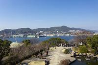 グラバー園からの長崎港と稲佐山
