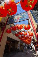 中華街に並ぶランタン