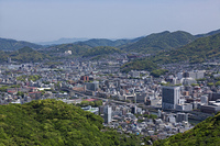 稲佐山からの長崎市街地浦上方面