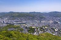 稲佐山からの長崎市街地宝町方面