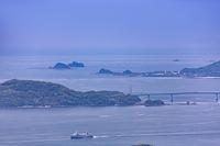 稲佐山から軍艦島を望む