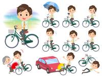 school boy pale green shirt summer_city cycle
