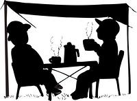 キャンプイメージのシルエット