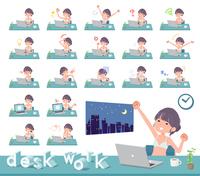 flat type underwear women_desk work