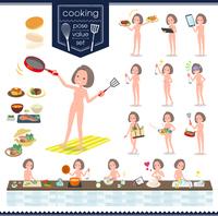 flat type nude women_cooking