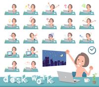 flat type nude women_desk work